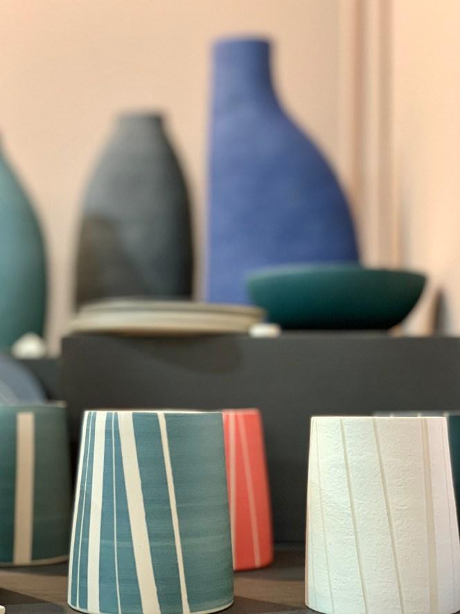 pots couleurs vases Edith Luthier