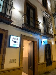 façade by night For You Hostel Sevilla
