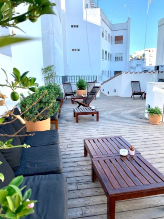 Terrasse rooftop For You Hostel