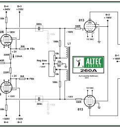 altec lansing 260a 813 pp power amp schematic  [ 1948 x 1284 Pixel ]