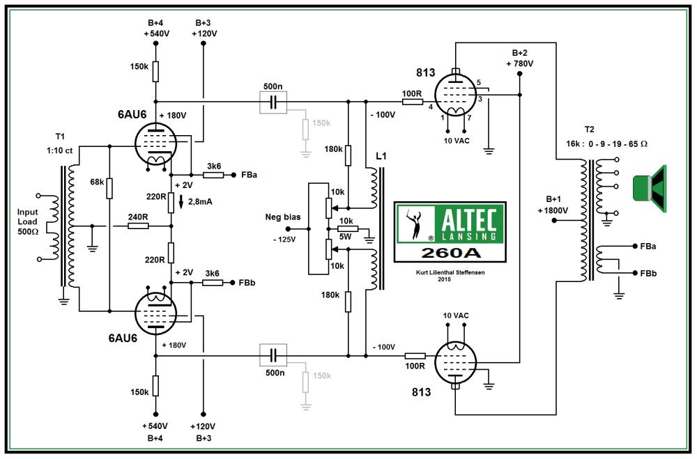 medium resolution of altec lansing 260a 813 pp power amp schematic