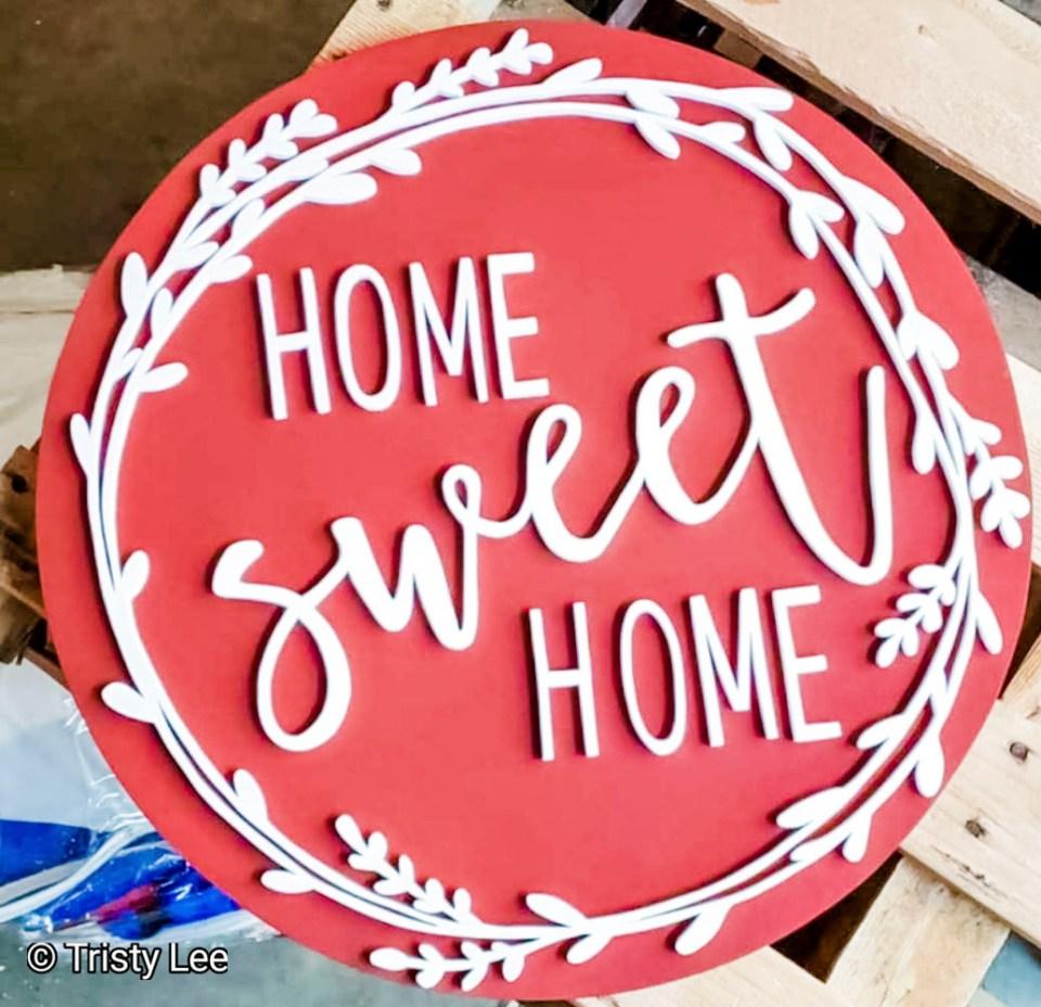 Farmhouse Home Sweet Home sign