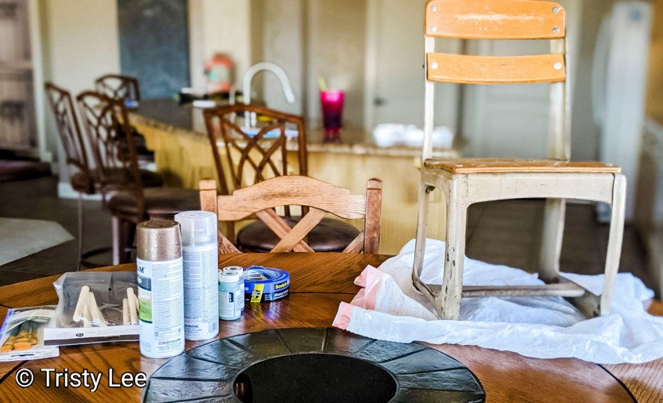 Supplies for chair upcycle