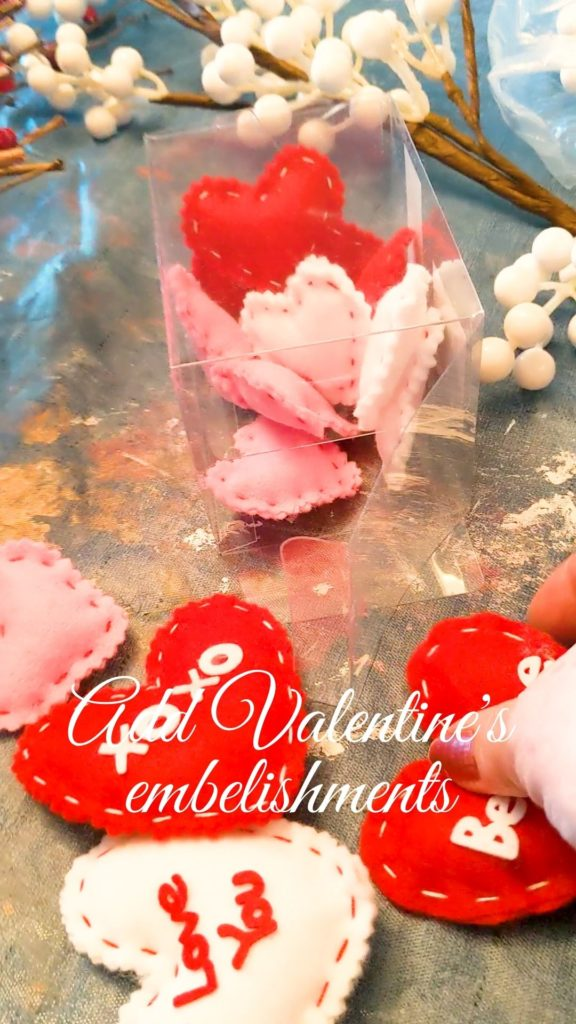 Valentine's Embellishments for wreath