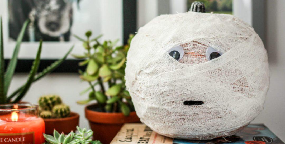 DIY Mummy Pumpkin