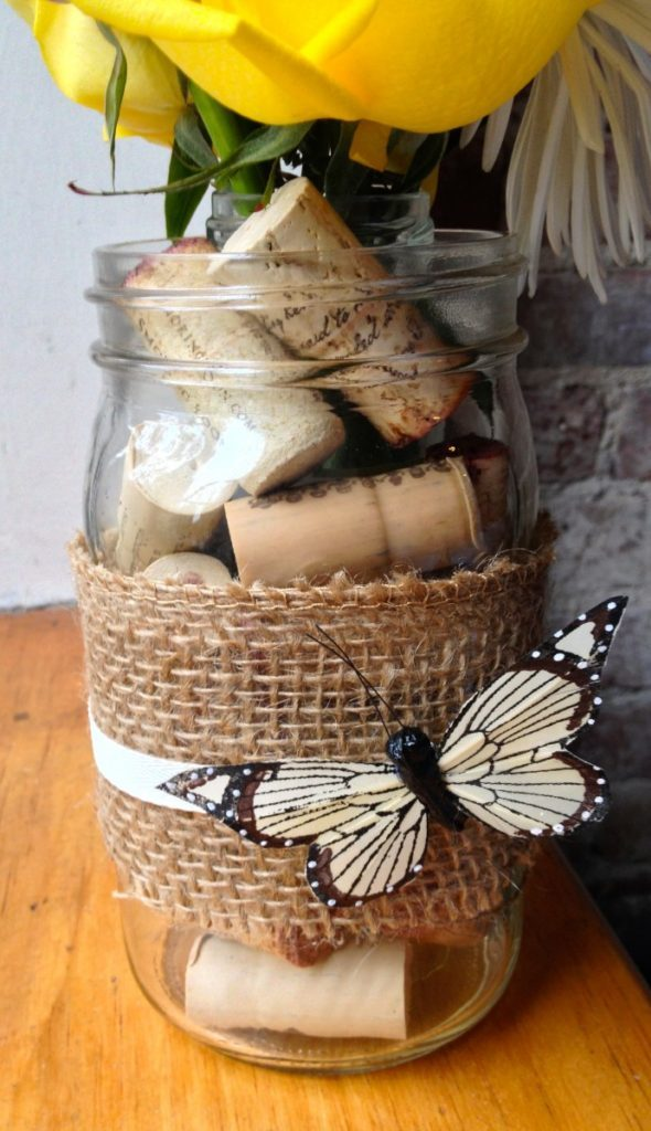 DIY Cork filled Vase