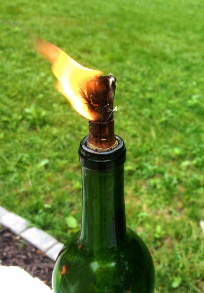 wine bottle citronella candles