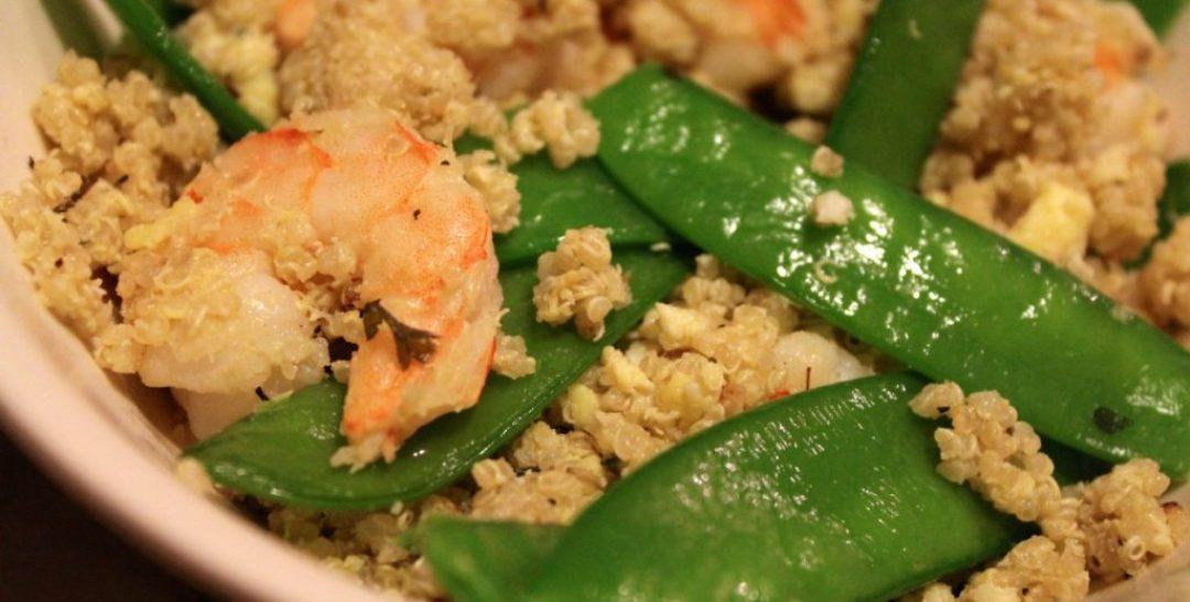 Shrimp and Egg Fried Quinoa