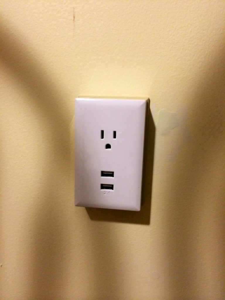 My Dad is strategically placing these charging ports around the lake house.