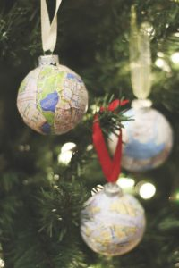 DIY Map Ornaments