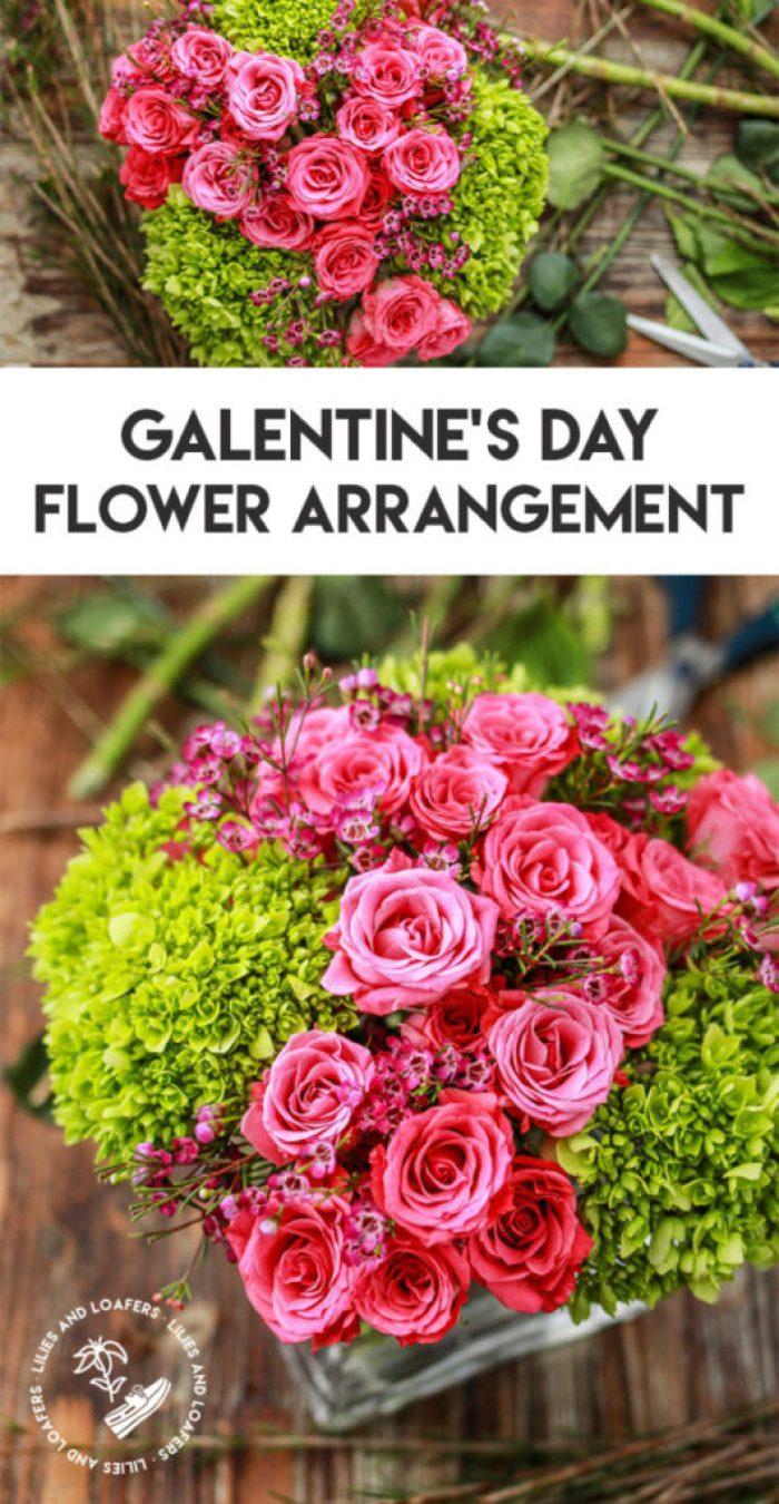 Flower Arrangement for Galentine's Day
