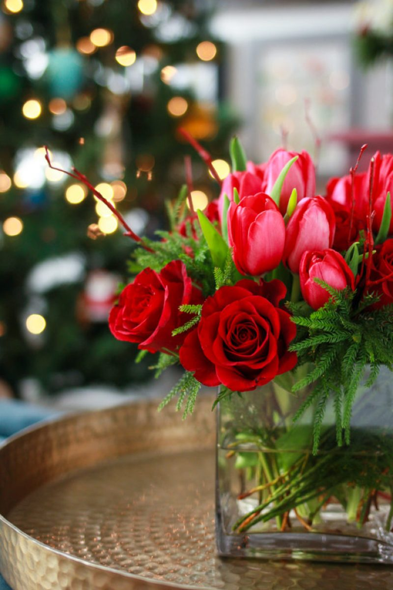 Diy Holiday Flower Arrangements Lilies And Loafers