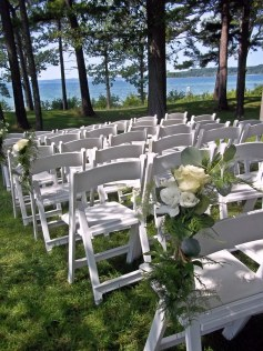 White Aisle Flowers