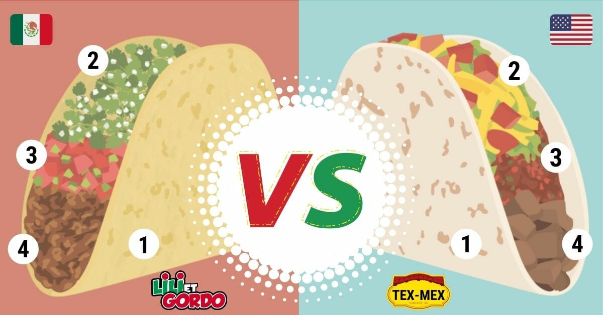 difference entre taco mexicain et taco tex-mex