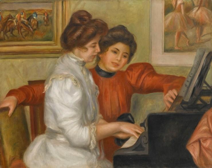Auguste Renoir Yvonne et Christine Lerolle au piano1897