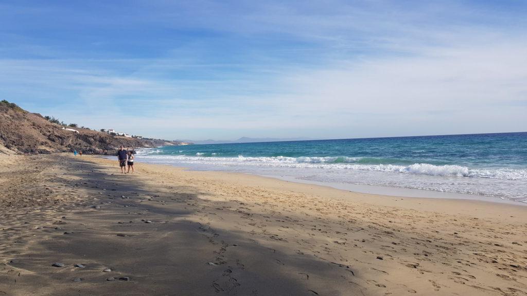morro jable plage sable noir