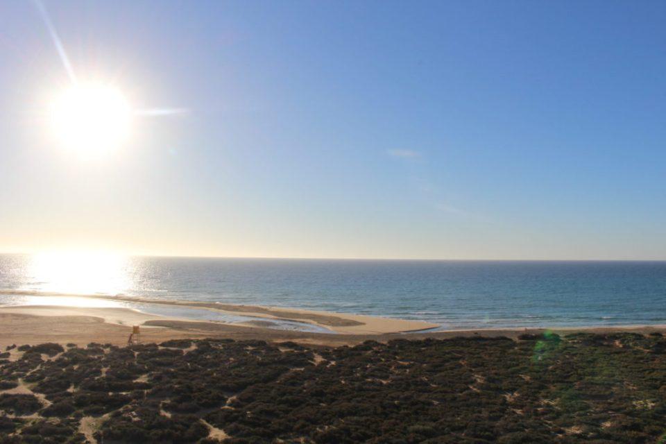 playa de sotavento vue de haut