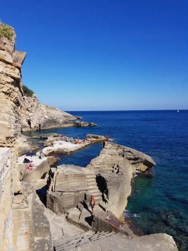 Santa Cesarea Terme - Superbe piscines naturelles dans les Pouilles en Italie