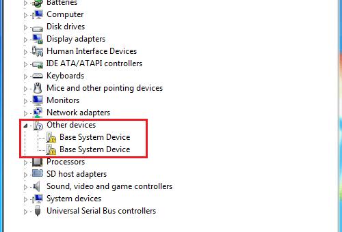 Mengatasi Base System Device pada Device Manager