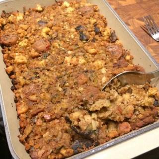 Vegan Italian Sausage and Chestnut Dressing