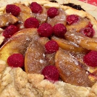 Vegan Peach Raspberry Rustic Tart