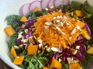 Rainbow Massaged Kale Salad