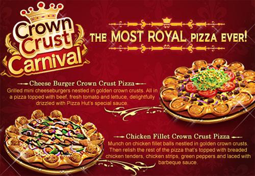 Cheeseburger Crown Crust Pizza