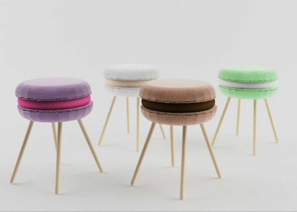Food design gli sgabelli a forma di macaron lili madeleine