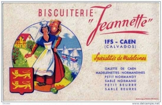 Biscuiterie Jeannette madeleine