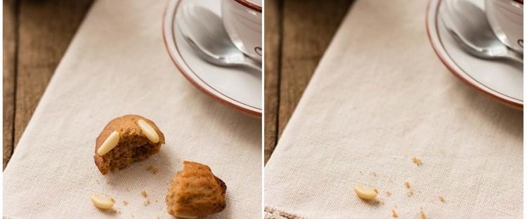 Madeleines con farina di castagne e pinoli