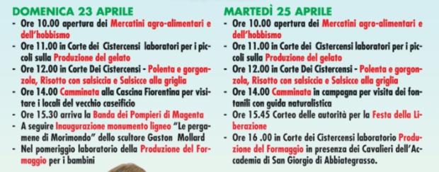 Festa del latte Morimondo 2017 programma