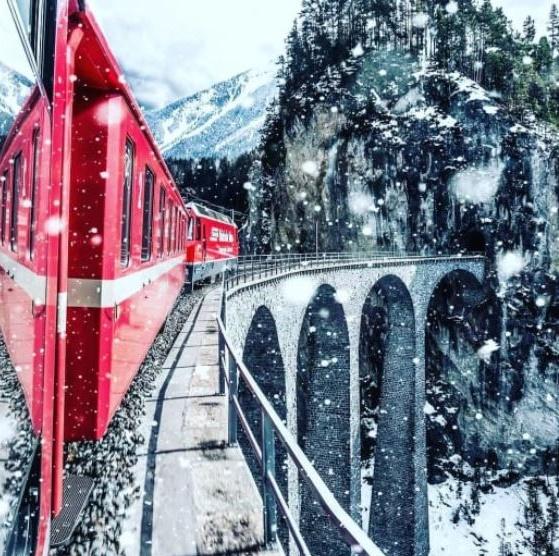 glacier epxress treno percorso