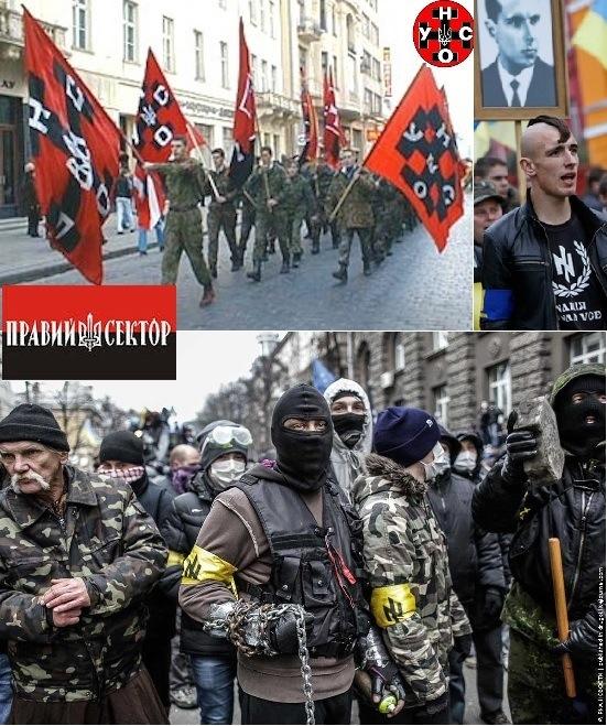 Neonazisti ucraini della rivolta Maidan.