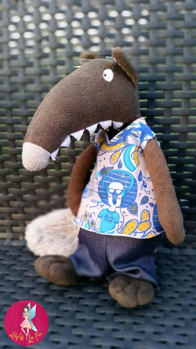 le loup qui voulait changer de couleur : pantalon et tshirt