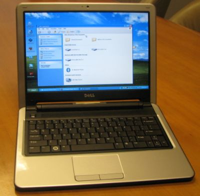 Dell Inspiron Mini 12 running Windows XP