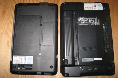 Left: HP Mini 1000 / Right: Asus Eee PC 1000H