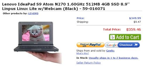 Lenovo IdeaPad S9 at Buy.com