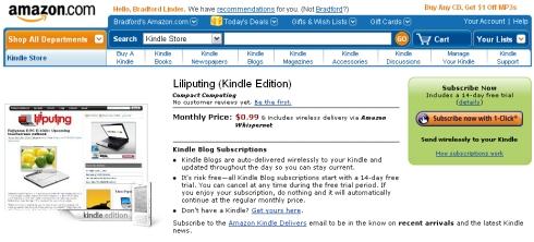 Liliputing on the Kindle