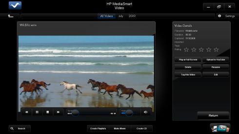 hp mediasmart video