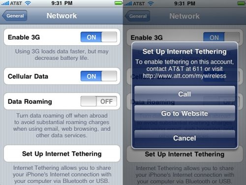 iPhone to support tethering    just not for an iPad - Liliputing