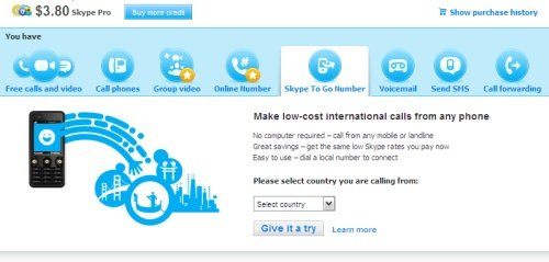 Skype To Go lets you make cheap international calls, no app required