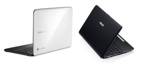 Samsung Series 5 Chromebook and Asus Eee PC 1215B notebook