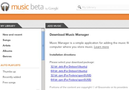 Google Music Beta adds support for Linux music uploads