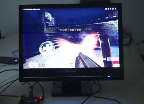Raspberry Pi running Quake III
