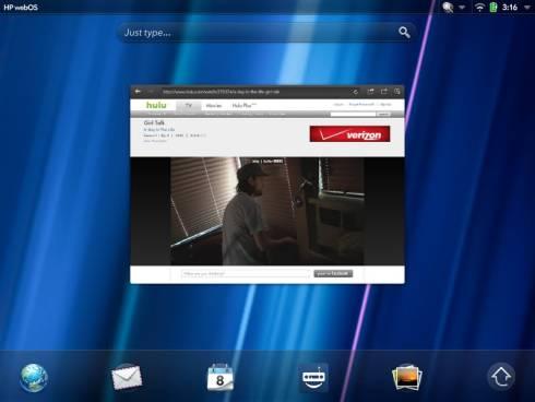 Hulu TouchPad