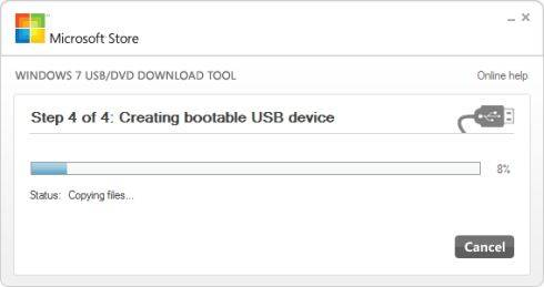 Windows 8 USB installer