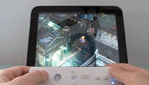 Classic gaming on the HP TouchPad with Android, a WiiPad