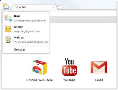 Google Chrome 16 profile sync