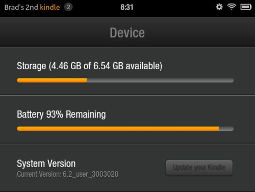 Amazon Kindle Fire OS 6.2