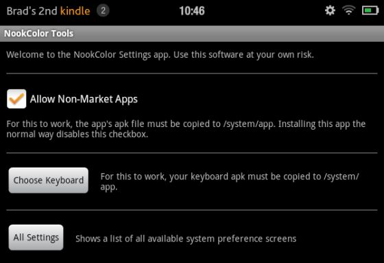 Use a third party keyboard with a (rooted) Amazon Kindle